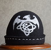 """Для дома и интерьера ручной работы. Ярмарка Мастеров - ручная работа шапка для бани мужская """"Кельтский дракон"""".. Handmade."""