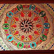 Картины и панно ручной работы. Ярмарка Мастеров - ручная работа картина на стекле мандала УДАЧА. Handmade.