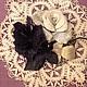 """Броши ручной работы. Ярмарка Мастеров - ручная работа. Купить Цветы из кожи. Розы """" Инь и Янь"""". Handmade. украшение"""