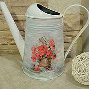 Цветы и флористика handmade. Livemaster - original item Watering can decoupage