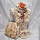 """Комплекты аксессуаров ручной работы. Ярмарка Мастеров - ручная работа. Купить валяный комплект""""Сухоцветы"""". Handmade. Валяный шарф, варежки женские"""