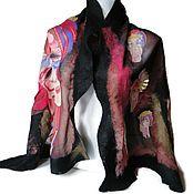 Аксессуары handmade. Livemaster - original item Batik Scarf felted Carnival. Handmade.