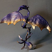 Украшения ручной работы. Ярмарка Мастеров - ручная работа браслет-дракон Орхидея дух цветов браслет из кожи цветок. Handmade.