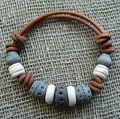 """Украшения handmade. Livemaster - original item Керамический браслет """"Этно"""". Handmade."""
