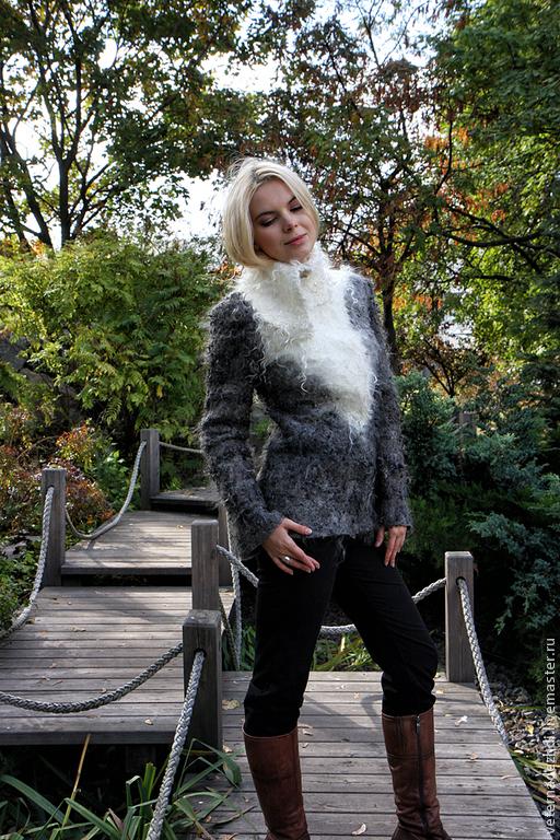 """Верхняя одежда ручной работы. Ярмарка Мастеров - ручная работа. Купить Валяная куртка """"В оттенках серого"""". Handmade."""