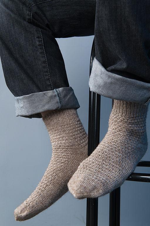 Носки, Чулки ручной работы. Ярмарка Мастеров - ручная работа. Купить Носки мужские Force бежевые. Handmade. Носки