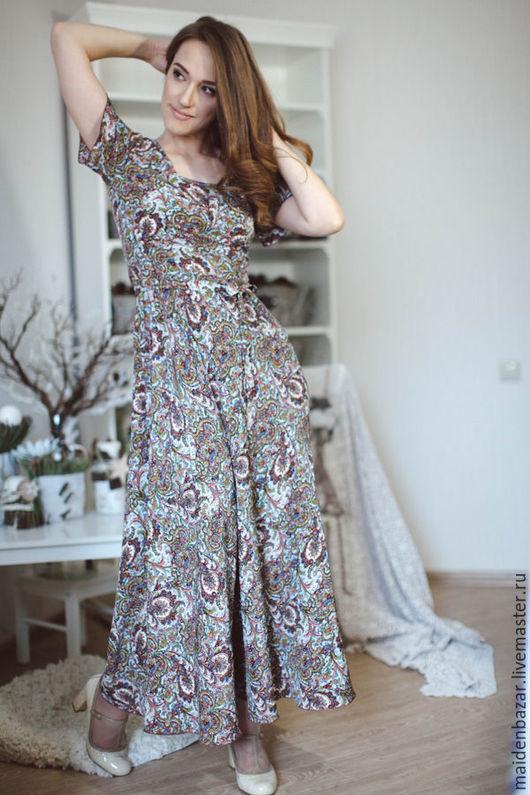 Платья ручной работы. Ярмарка Мастеров - ручная работа. Купить Платье в пол. Handmade. Пейсли, вечернее платье