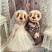 Куклы и игрушки ручной работы. Ярмарка Мастеров - ручная работа Свадебная пара. Мишки тедди.. Handmade.