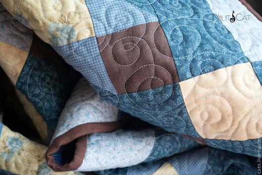 """Текстиль, ковры ручной работы. Ярмарка Мастеров - ручная работа. Купить Одеяло """"Звездное небо"""". Handmade. Лоскутное одеяло, синий"""