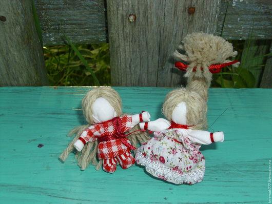 Народные куклы ручной работы. Ярмарка Мастеров - ручная работа. Купить Мальчик и девочка на счастье (пара). Handmade. Комбинированный