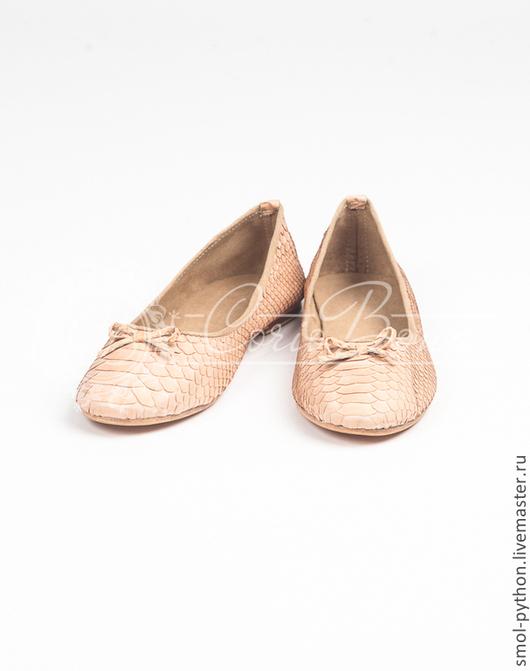 Обувь ручной работы. Ярмарка Мастеров - ручная работа. Купить Скидка! Балетки из кожи питона. Handmade. Балетки из питона