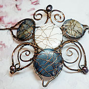 Украшения handmade. Livemaster - original item Copper hairpin with mother of pearl.. Handmade.