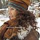 Шарфы и шарфики ручной работы. Комплект шарф,шапка Шоколадный бохо. larissima. Ярмарка Мастеров. Нуновойлок, ручная работа handmade