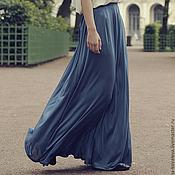 Одежда ручной работы. Ярмарка Мастеров - ручная работа юбка-макси голубая. Handmade.