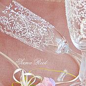 Свадебный салон ручной работы. Ярмарка Мастеров - ручная работа Свадебные Бокалы Афина. Handmade.