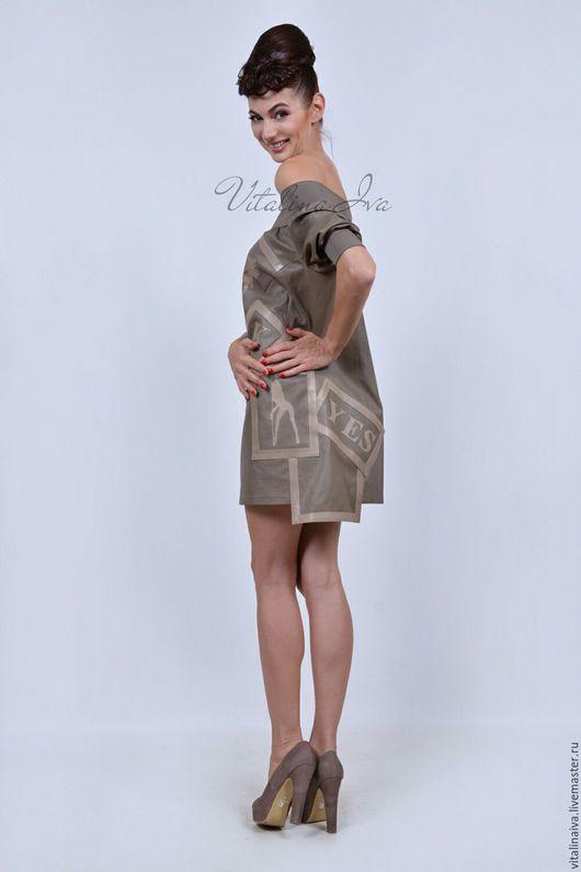 Платья ручной работы. Ярмарка Мастеров - ручная работа. Купить Платье кожаное. Handmade. Кожа, платье из кожи, стиль