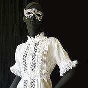 Одежда ручной работы. Ярмарка Мастеров - ручная работа Туника - белое кружево NOSTALGIE. Handmade.