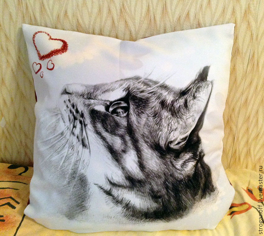 Decorative pillow 'Cat', Pillow, Moscow,  Фото №1