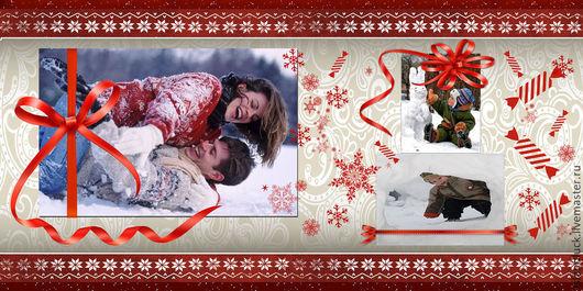 Фото-работы ручной работы. Ярмарка Мастеров - ручная работа. Купить Новогодняя подарочная фотокнига (продолжение). Handmade. Новый Год