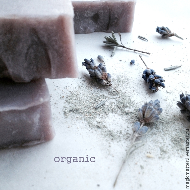 LAVENDER FIELDS organic soap with lavender flowers