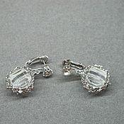 Винтаж handmade. Livemaster - original item Sparkling earrings Celebrity. Handmade.