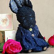 Куклы и игрушки ручной работы. Ярмарка Мастеров - ручная работа тедди зайка Ноченька. Handmade.