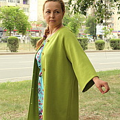 "Одежда handmade. Livemaster - original item Knitted cardigan ""colors of summer""- pistachio. Handmade."