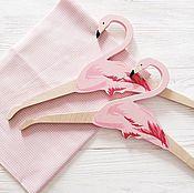 """Для дома и интерьера ручной работы. Ярмарка Мастеров - ручная работа Вешалка-плечики """"Фламинго"""". Handmade."""