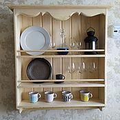 Полки ручной работы. Ярмарка Мастеров - ручная работа Модель 22 кухонная полка в стиле прованс. Handmade.