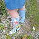 """Обувь ручной работы. Ярмарка Мастеров - ручная работа. Купить Сапоги """" Маки"""" из джинсовой ткани. Handmade. Синий"""