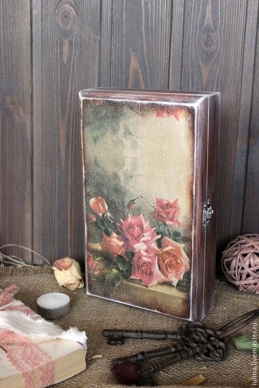 """Прихожая ручной работы. Ярмарка Мастеров - ручная работа. Купить Ключница """"И розы аромат струится нежный..."""". Handmade."""