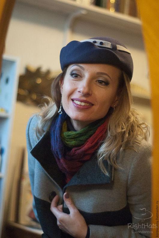 """Шляпы ручной работы. Ярмарка Мастеров - ручная работа. Купить """"Гретхен"""". Handmade. Тёмно-фиолетовый, женская шляпка, фетр"""