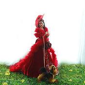 Куклы и игрушки ручной работы. Ярмарка Мастеров - ручная работа Дама с собачкой. Handmade.