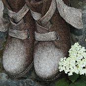 """Обувь ручной работы. Ярмарка Мастеров - ручная работа Валяные ботинки """"Хайку"""". Handmade."""