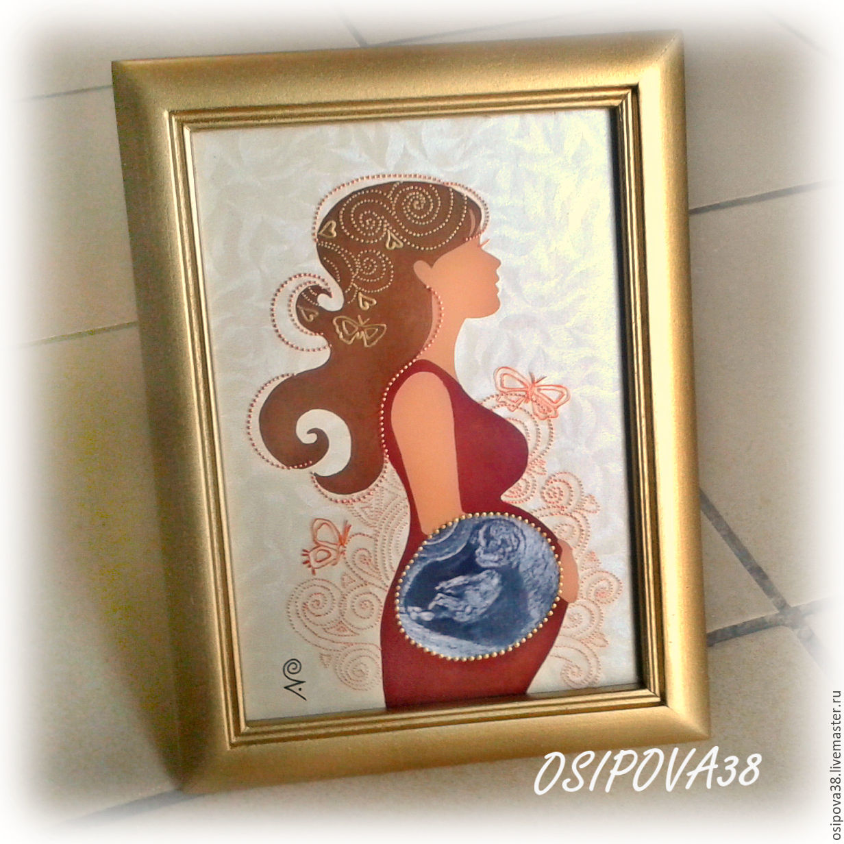 Frame for ultrasound shop online on livemaster with shipping my gifts for newborns handmade frame for ultrasound painting and decor olga jeuxipadfo Choice Image