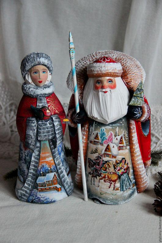 Новый год 2017 ручной работы. Ярмарка Мастеров - ручная работа. Купить Дед Мороз и Снегурочка большие 2. Handmade. Снегурочка