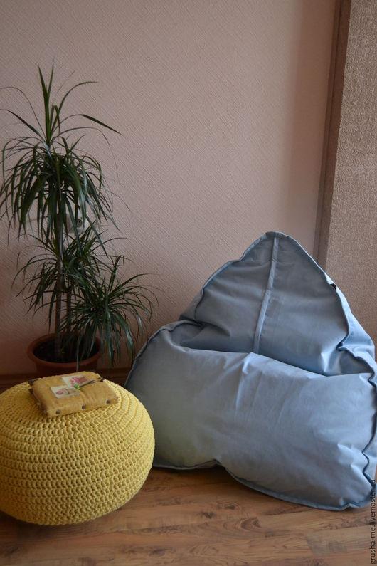 """Мебель ручной работы. Ярмарка Мастеров - ручная работа. Купить Кресло """"Императорское"""" малое из микровелюра. Handmade. Голубой, уютное, пенополистирол"""