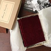 Фотоальбомы ручной работы. Ярмарка Мастеров - ручная работа Фотоальбом Красный Бархат / Red Velvet mini 12х17. Handmade.