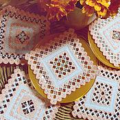 Для дома и интерьера handmade. Livemaster - original item Openwork embroidered napkins coasters. Table setting. Handmade.