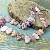 Бусины ручной работы. Ярмарка Мастеров - ручная работа Розовый опал натуральный бусины произвольной формы. Handmade.
