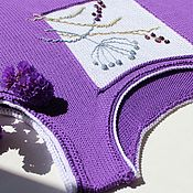 Одежда handmade. Livemaster - original item Blueberries. Knitted tank top of cotton. Handmade.
