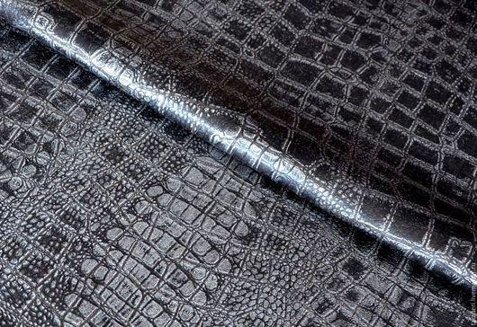 Шитье ручной работы. Ярмарка Мастеров - ручная работа. Купить Натуральная кожа для сумок 0,6 мм - Графитовый крок. Handmade.