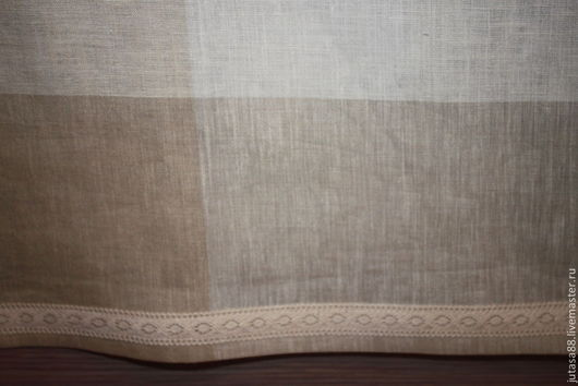 Текстиль, ковры ручной работы. Ярмарка Мастеров - ручная работа. Купить Льняная скатерть. Handmade. Бежевый, хлопковое кружево