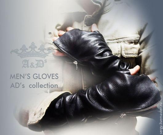 Варежки, митенки, перчатки ручной работы. Ярмарка Мастеров - ручная работа. Купить Перчатки мужские - Men's Glove's. Handmade. Черный