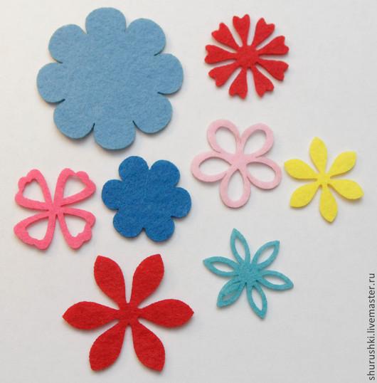 Валяние ручной работы. Ярмарка Мастеров - ручная работа. Купить Цветы из фетра. Handmade. Разноцветный, цветы, свадьба, лазерная резка