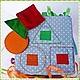 Сторона `Фигуры` Изучаем геометрические фигуры, цвет, счет в пределах 3. Развиваем координацию движений (необходимо прикрепить фигуры ровно по контуру)