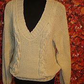 Одежда ручной работы. Ярмарка Мастеров - ручная работа Пуловер модного цвета экрю. Handmade.