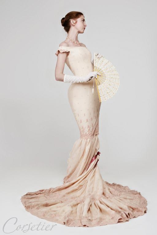 """Платья ручной работы. Ярмарка Мастеров - ручная работа. Купить Платье """"Чайная роза"""" бальное историческое. Handmade. Бежевый, кружево"""