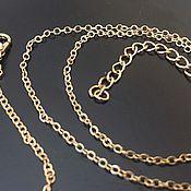 Материалы для творчества handmade. Livemaster - original item Jewelry chain with lock art. 4-15A, gold-plated. Handmade.