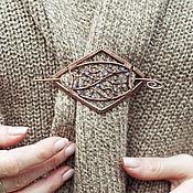 Украшения ручной работы. Ярмарка Мастеров - ручная работа Фибула заколка для шали, шарфа. Handmade.